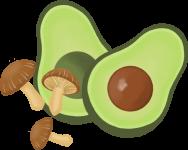 Avocado Mushroom